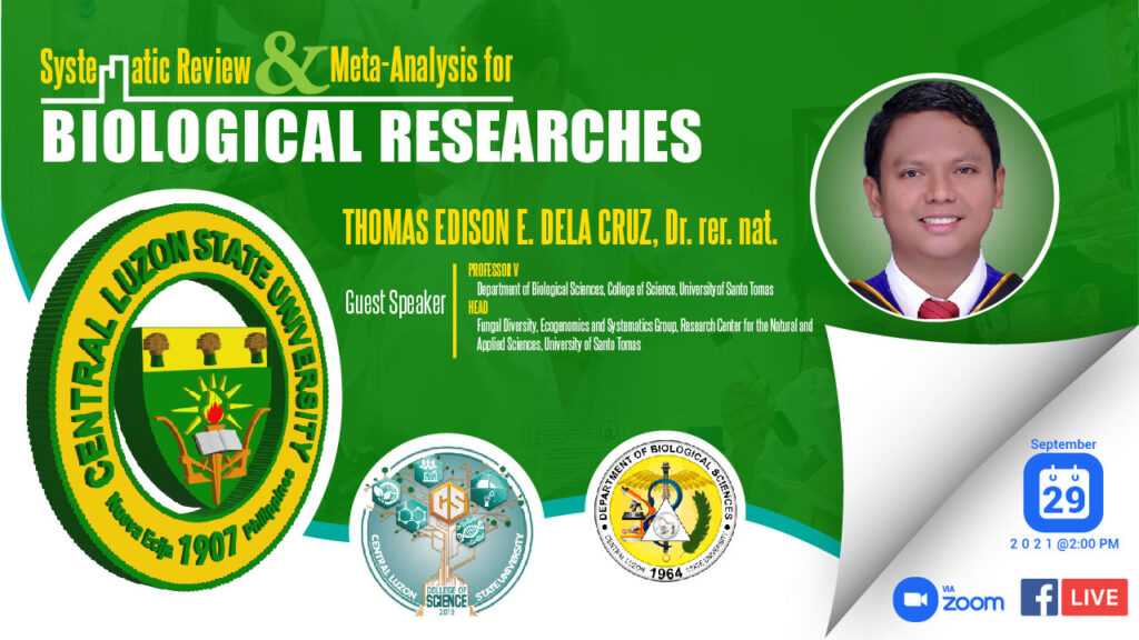 BioSci Department to Conduct Webinar on Systematic Review and Meta-Analysis for Biological Researches